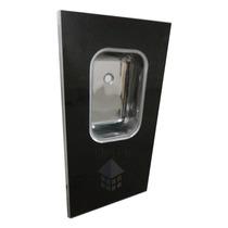 Mesada 1,22m Granitex C/ Reborde Aluminio Y Bacha Acero Inox