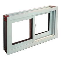 Ventana Abertura Aluminio Vidrio 3mm Blanco Reforzado 80x40
