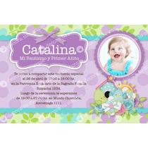 Kit Imprimible Pajaritos Flores Lila Invitación Cumpleaños