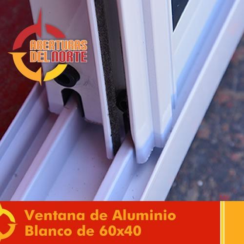 Ventana corrediza ventiluz vidrio 4mm blanco fabrica 60x40 for Pvc o aluminio precios