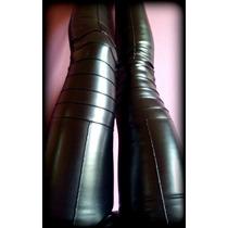 Calzas Leggins Cuero Combinadas Lycra %100 Premium/rodillera