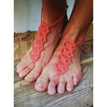 Tobilleras Sandalias Pies Descalzos Crochet - Importadas