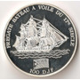 Djibouti, 100 Francs, 1994. Fragata, Barco. Plata Proof