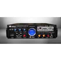 Amplificador Potencia Karaoke 2 Mic. Usb/sd/fm 12v 220v