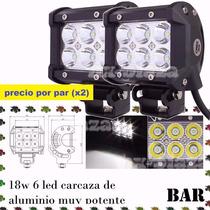Faros Auxiliar Led Alta Luminosidad 18w Precio Por Par (x2)