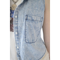 Camisa De Jean Mujer Sin Mangas