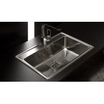 Pileta Cocina Simple Quadra Max Johnson Acero Q71 Bacha