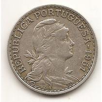 Portugal Moneda De 1 Escudo Año 1951 Y#578