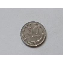 Moneda De Argentina 50 Centavos Peso Moneda Nacional 1941
