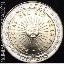Nueva Moneda De 1 Peso 1813-2013 Sin Circular