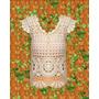 Remera Larga Tejida Crochet Algodon Rustico O Sedificado