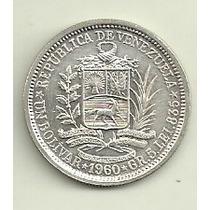 Moneda Venezuela Plata 1 Bolivar Año 1960 Excelente