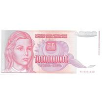 Billete Yugoeslavia 1.000.000.000 Dinara Año1993 Sincircular
