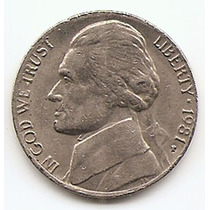 Moneda Estados Unidos De One Dime 10 Centavos Año1981p #