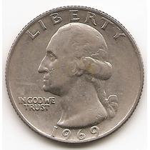 Moneda Estados Unidos 25 Cent.dolar Año1969 Nueva U$s14.- #2