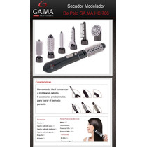 Secador Modelador Gama Hc706 6 En 1 Cepillo Alisador Rizador