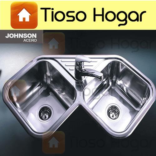 Pileta lavadero ln50 acero inox de johnson linea 304 for Lavadero acero inox