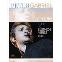 Peter Gabriel Live In Buenos Aires 1988 Dvd Nuevo