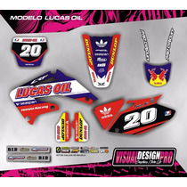 Kit Grafica Calco Honda Crf 450 - 02/04 - Grueso Competicion