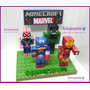 Adorno Para Torta Minecraft Marvel Base 20x30cm Retiralo Ya