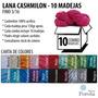 Lana Cashmilon Acrilico Fino Combo 10 Madejas