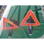 Juego Balizas Reflectivas Reglamentarias Triangulo 1000 Mts
