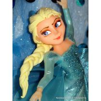 Frozen Elsa Adorno Para Torta Porcelana Fría - Narartesana