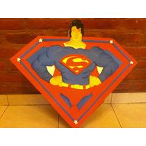 Piñatas Superman Sapo Pepe Violetta Etc Carton Y Goma Eva