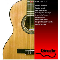 Guitarra Clásica Gracia Modelo M3 Con Funda Acolchada