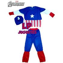 Disfraz Infantil Capitan America Avengers 3 Piezas