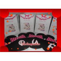 03053f9a8 Bolsitas Souvenirs Personalizados Impresas Mickey Minie Bebe en ...