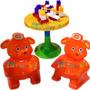 Juego Mesa Y 2 Sillas Infantil Con Bloques Picnic Table Bebe