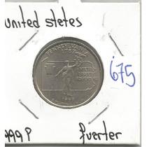 Estados Unidos Moneda Cuarto De Dolar Conmemorativo 1999 P