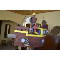 Piñata Jake Y Los Piratas Del Nunca Jamas Barco Pirata Bucky