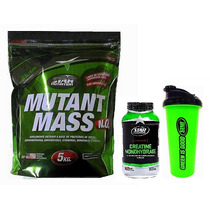 Mutant Mass 5 Kg + Creatina 300 Grs + Shaker Star Nutrition