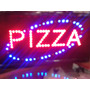 Cartel Luminoso Led Con El Texto Pizza