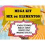 Mega Kit Fondos Rayos Imágenes Fuentes Efectos Marcos. 2x1