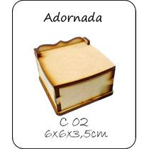 Caja Souvenir De Fibrofacil De 6x6x3,5cm