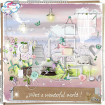Kit Imprimible Wonderful Hermosos Scraps Elementos + Fondos