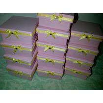 Cajas Artesanales De Carton Forradas A Mano