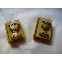 Souvenirs Cajitas Libros Para Comunion Con Porcelana Fria