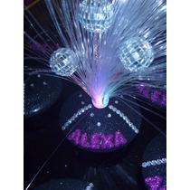 Centros De Mesa Luminoso De Fibra C/bolas De Boliche X1