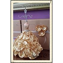 Centros De Mesa Maniqui Vestido Fiesta Porta Foto Bijou