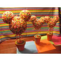 Centros De Mesa Souvenirs Mickey - Minnie (goma)