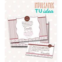 Tarjeta De 15 Para Imprimir - Invitación Y Personal Candela