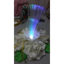 Centro De Mesa Luminoso Floral Color A Eleccion X1