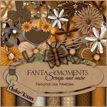 Kit Imprimible Fantasy Moments Scrap+ Elementos + Papeles