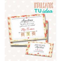 Cumple De 15 Tarjeta - Invitación De Quince Para Imprimir