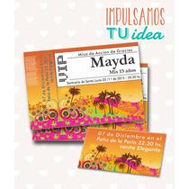Tarjeta De 15 Para Imprimir - Invitación Y Personal Mayda