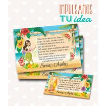 Tarjeta De 15 Para Imprimir - Invitación Y Personal Hawai